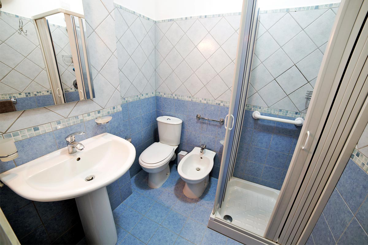 Camera doppia - Blu - Bagno